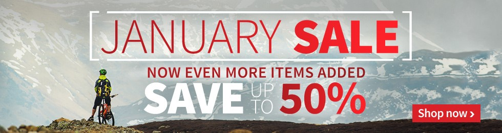 Save up to 50% off in our January Bike sale