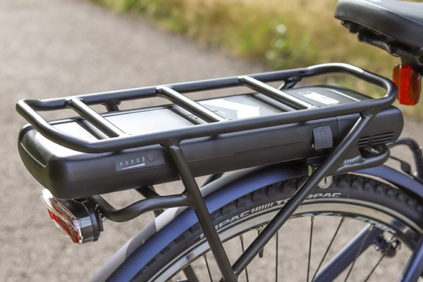 Raleigh Array Electric Bike rack mounted battery