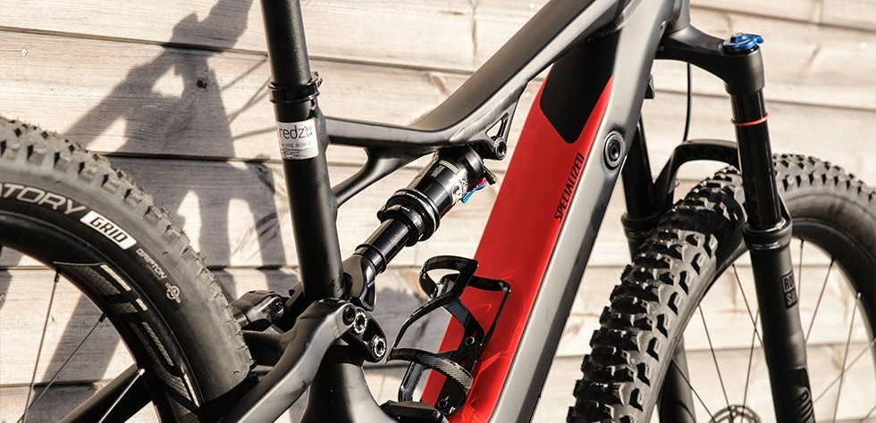 Specialized Turbo Levo with 140mm of plush suspension travel front and rear