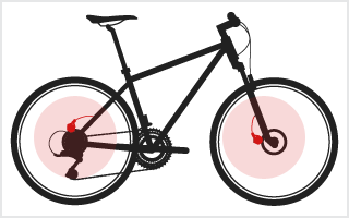 Location of Brakes on a bike