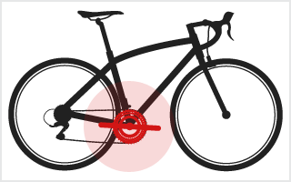 Location of Chainset on a bike