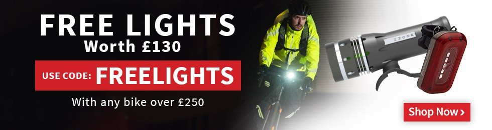 Free Lights with all Bikes bought over £250