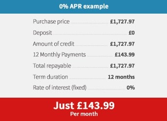 Finance 0% APR Example