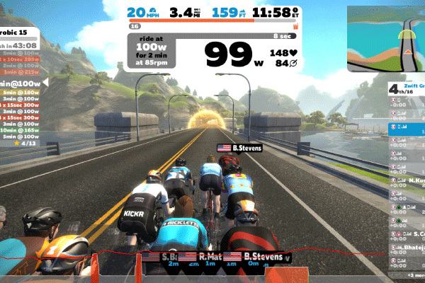 Virtual Training with Zwift