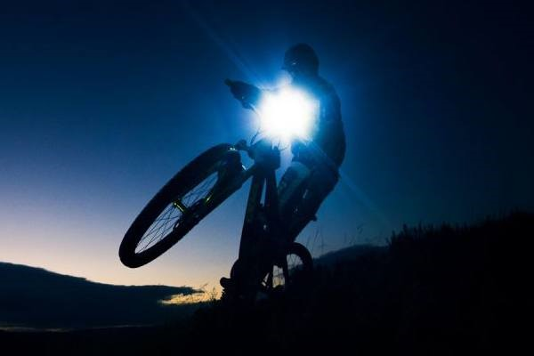 trail riding in the dark