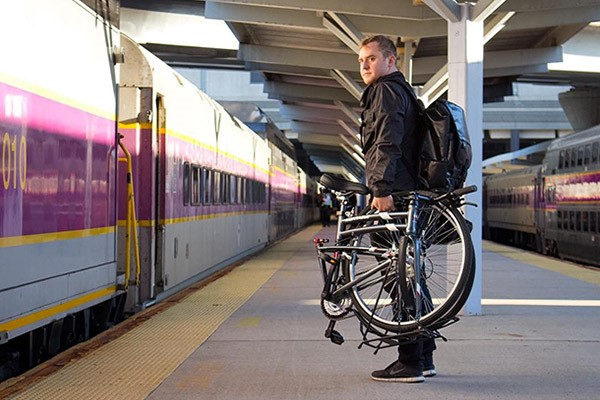 Commuter with a folding bike