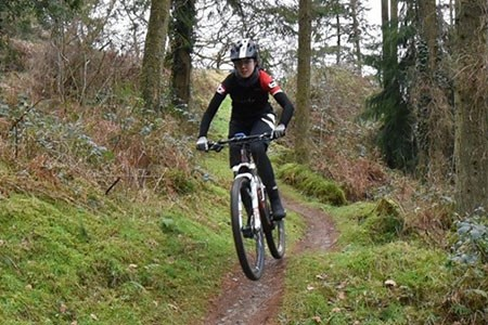 Team Tredz rider Alex tackles a trail