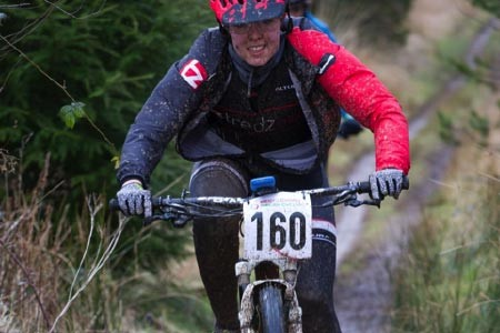 Team Tredz Rider Alex Thomas in action in round 1 of the Welsh MTB XC Championships