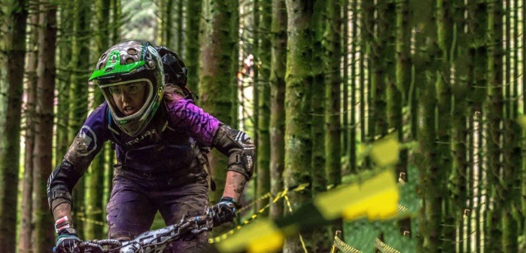 Team Tredz Rider Alex in action in the woods