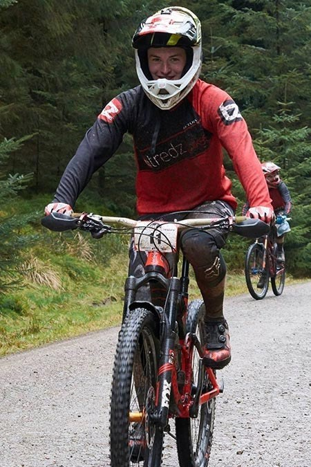 Team Tredz rider Lewis out on the trails