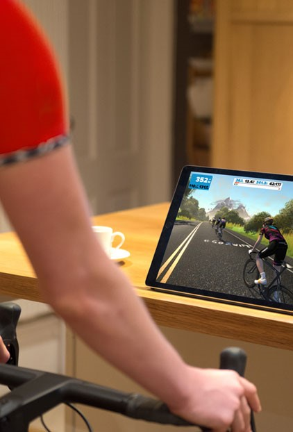 Virtual Cycle Training With Zwift