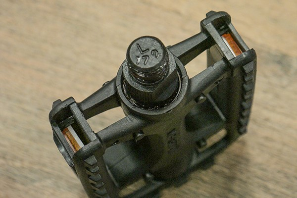 Showing the pedal base indicating that it is for the left hand side