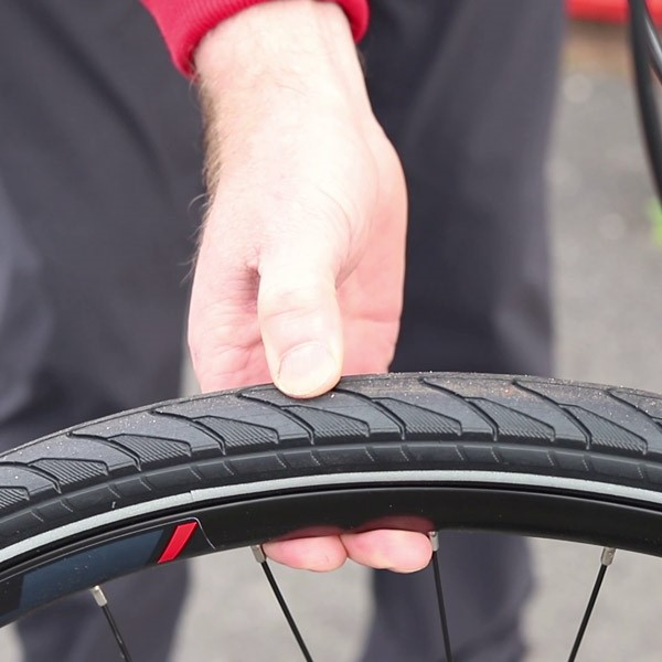 Check your tyre pressure on your bike