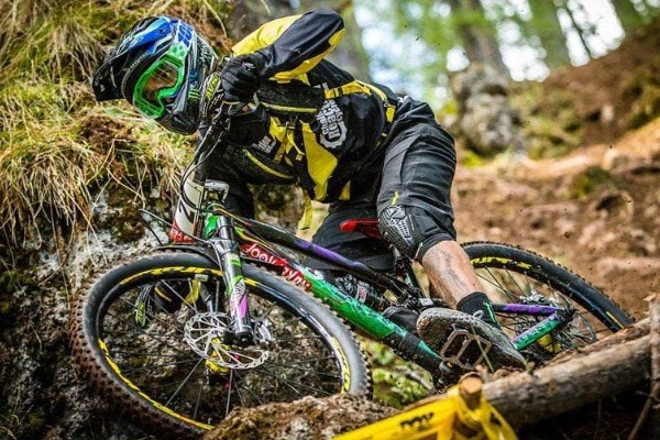 Legendary downhiller-turned enduro racer Sam Hill often prefers to ride flat pedals