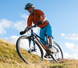 Orange Hardtail Mountain Bikes