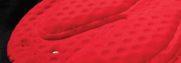Close-up of a Chamois pad found inside bib tights, these pads can make cycling far more comfortable