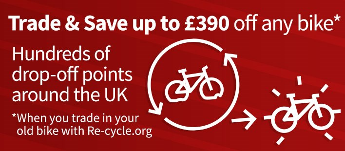 Buy a new bike today and save up to £390 - Hundreds of drop-off points around the UK