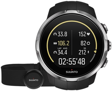 Suunto Spartan Sport Black (HR) Heart Rate and GPS Touch Screen Multi Sport Watch