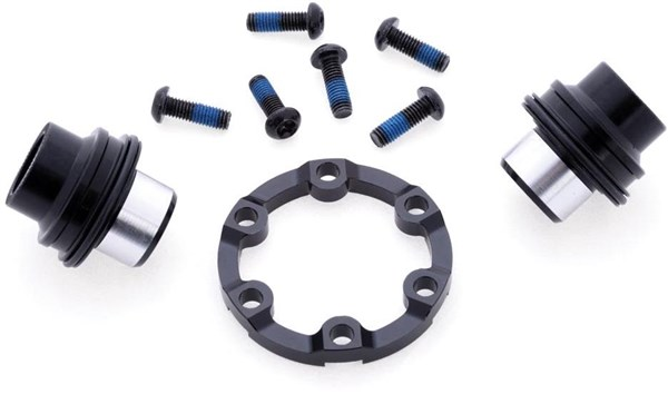 Halo Spin Doctor 6D Boost Kit, Front - 15mm Boost adaptor kit, inc. Disc spacer and XL rotor bolts
