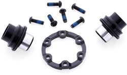 Product image for Halo Spin Doctor 6D Boost Kit, Front - 15mm Boost adaptor kit, inc. Disc spacer and XL rotor bolts