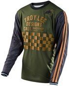 Product image for Troy Lee Designs Super Retro Check Long Sleeve Cycling Jersey