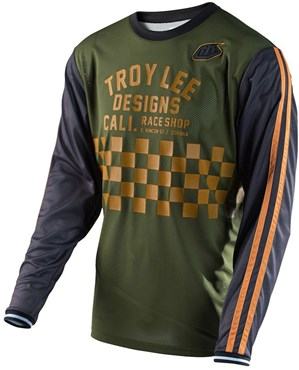 Troy Lee Designs Super Retro Check Long Sleeve Cycling Jersey