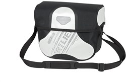 Product image for Ortlieb Ultimate 6 Black n White Handlebar Bag With Magnetic Lid