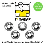 Product image for Pinhead Solid Axle Wheel Locks Pair