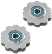 Product image for Tacx Jockey Wheels Ceramic Bearings White (Fits 9/10Spd Shimano)