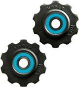 Product image for Tacx Jockey Wheels 10 Tooth Ceramic Ball Bearings (Si3N4) With Teflon Wheel