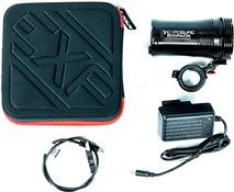 Exposure Six Pack Mk8 Rechargeable Front Light - With 35/31.8mm QR Bracket - 4500 Lumens
