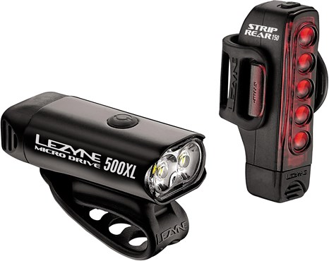Lezyne Micro Front 500/Strip Rear 150 Set