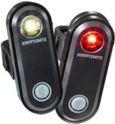 Product image for Kryptonite Avenue F-65 & R-30 USB 1 LED Light Set
