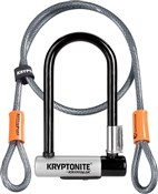 Kryptonite Kryptolok Mini U-lock with FlexFrame Bracket Twinpack