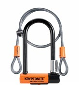 Kryptonite Evolution Mini 7 Lock with 4 Foot Kryptoflex Cable and FlexFrame Bracket