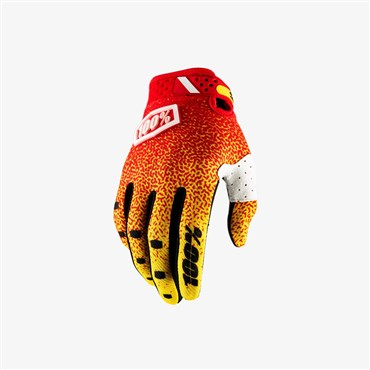 100% Ridefit Long Finger Cycling Gloves SS18
