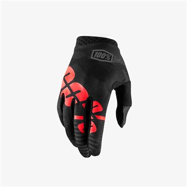 100% iTrack Youth Long Finger Cycling Gloves SS18