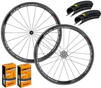 Product image for Fulcrum Racing Quattro Carbon Wheelset with Grand Prix 4000 S II Tyres & Tubes