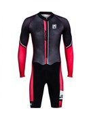 Product image for Santini Dirt Shell Cyclo Cross Fleece Aquazero Body Suit With GIT Pad AW17