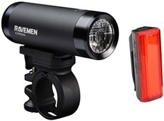 Product image for Ravemen CR500 (500 Lumens) / TR20 (20 Lumens) USB Rechargeable Twinset