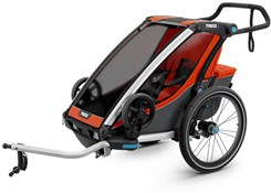 Product image for Thule Chariot Cross 1 Single Child Trailer With Strolling Kit