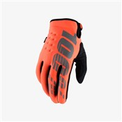 Product image for 100% Brisker Cold Weather Youth Long Finger MTB Cycling Gloves SS18