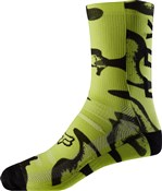 "Fox Clothing 8"" Print Socks"