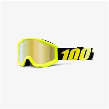 100% Strata JR Youth Anti-Fog Mirrored Lens MTB Goggles