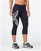 Product image for 2XU Ice X Mid-Rise Womens Compression 3/4 Tights