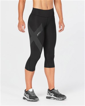 2XU Mid-Rise Womens Compression 3/4Tights