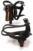 XLC Road Pedals and Toe Straps Plastic (PD-R01)