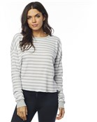 Fox Clothing Striped Out Womens Long Sleeve Thermal Crop Top