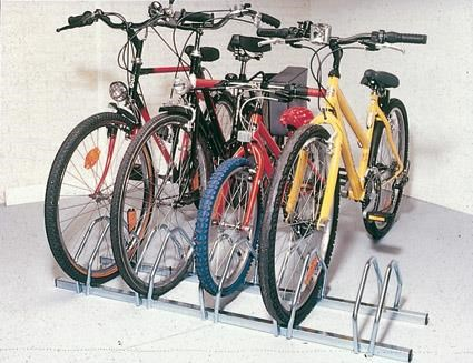 Mottez 5 Bike Floor Mount Storage Rack
