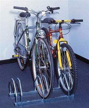Mottez 3 Bike Floor Mount Storage Rack
